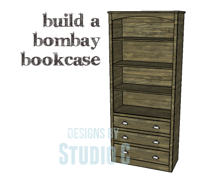 A Collection of DIY Plans to Build Bookcases_Bombay Bookcase
