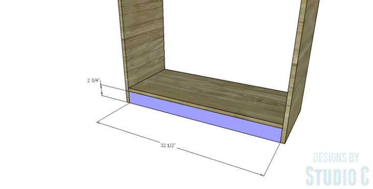 DIY Plans to Build a Bombay Bookcase_Kick Plate