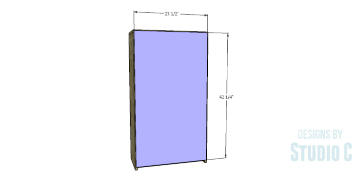 DIY Plans to Build a Kase Bookshelf_Back