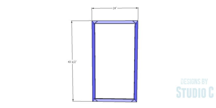 DIY Plans to Build a Kase Bookshelf_Front Frame 1