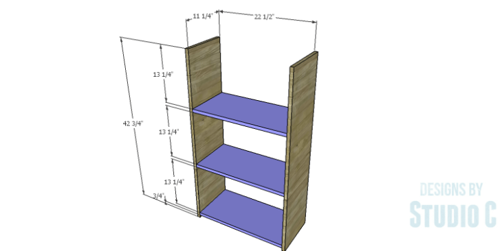 DIY Plans to Build a Kase Bookshelf_Sides & Shelves