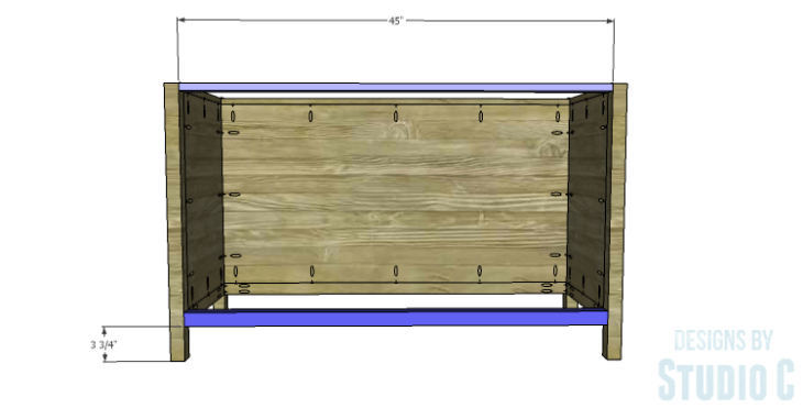 DIY Plans to Build a Trinity Cabinet_Front Stretchers