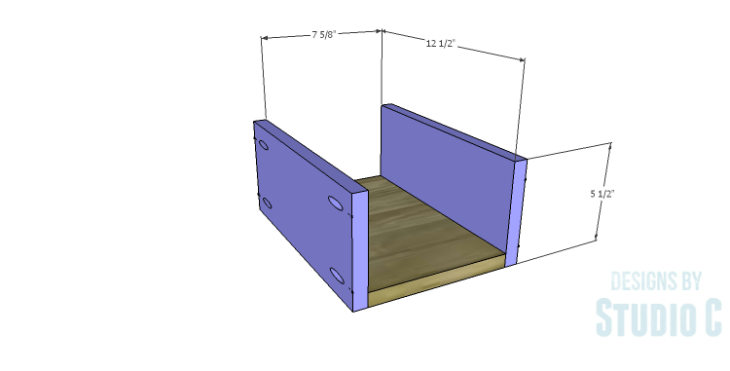 DIY Plans to Build a Matteo Drawer Cabinet_Small Drawer BS