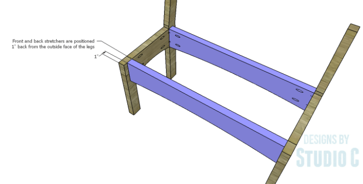 DIY Plans to Build a Taboreh Bench_FB Stretchers 2