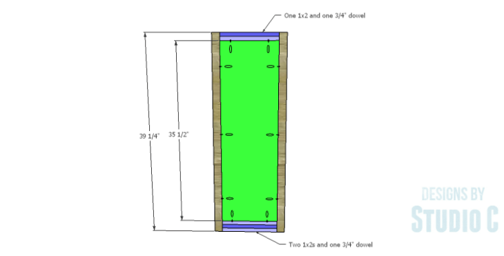 DIY Plans to Build a Holly Bookcase_Sides
