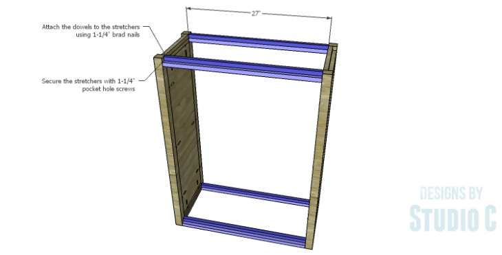 DIY Plans to Build a Holly Bookcase_Stretchers