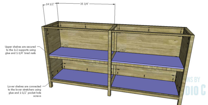 DIY Plans to Build a Frances Buffet_Shelves