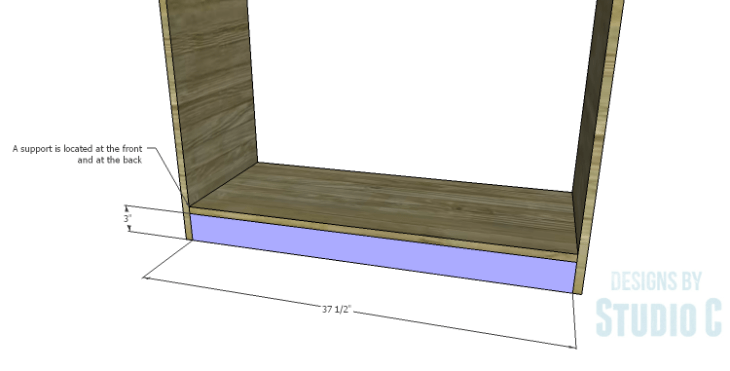 DIY Plans to Build a Savoy Cabinet_Bottom Support