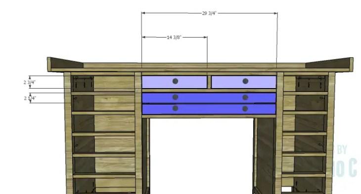 DIY Plans to Build a Jeweler's Desk_Center Drawer Fronts