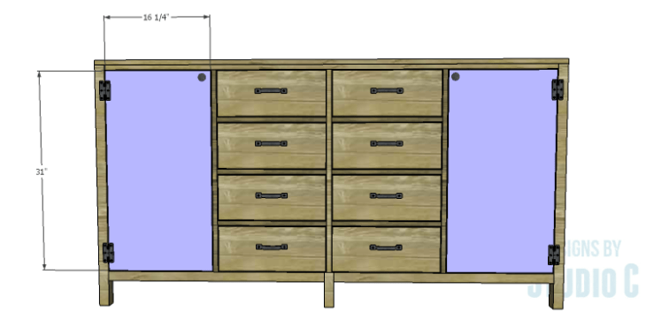 DIY Plans to Build a Monroe Dresser_Doors