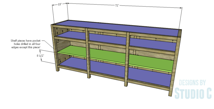 DIY Plans to Build a Carney Media Stand_Shelves