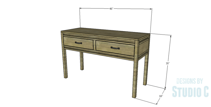 DIY Plans to Build a Holly Console Table
