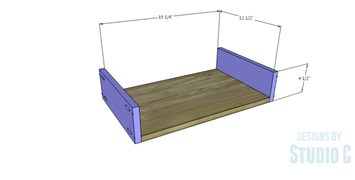 DIY Plans to Build a Holly Console Table_Drawer BS