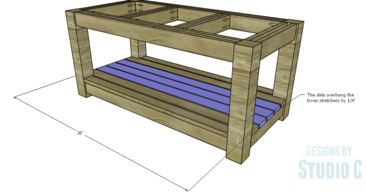 DIY Plans to Build a Simple Outdoor Bench_Center Slats