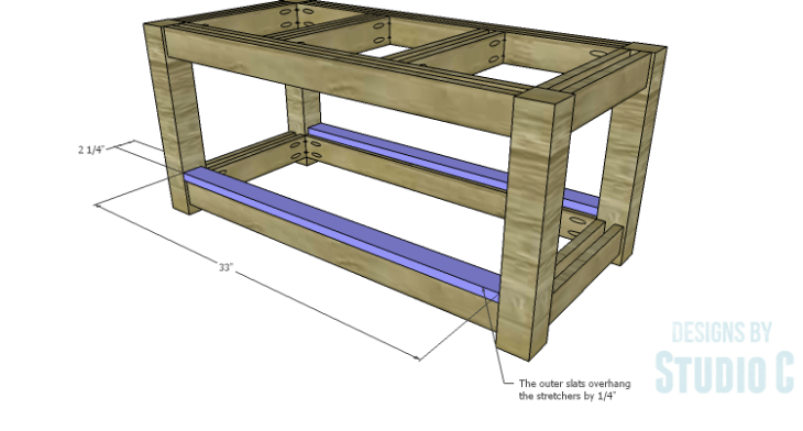 DIY Plans to Build a Simple Outdoor Bench_Outer Slats