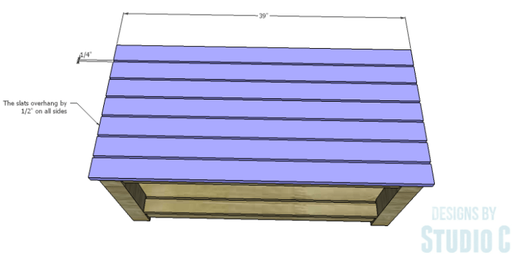 DIY Plans to Build a Simple Outdoor Bench_Seat Slats