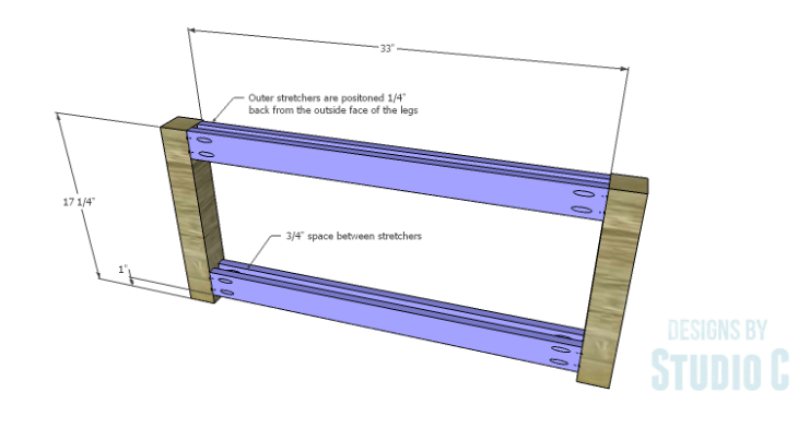 DIY Plans to Build a Simple Outdoor Bench_Sides