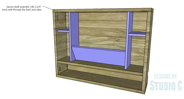 DIY Plans to Build a Laptop Wall Desk_Shelf Assembly 2