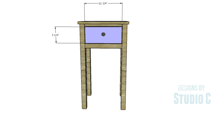DIY Plans to Build a Nell End Table_Drawer Front