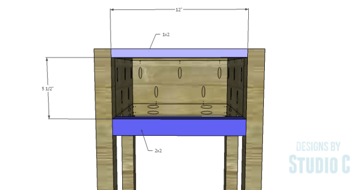 DIY Plans to Build a Nell End Table_Front Stretchers