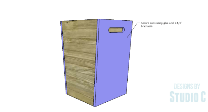 DIY Plans to Build a Rustic Laundry Cart_Ends 2