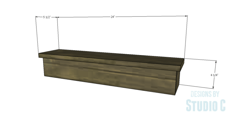 DIY Plans to Build a Square Ledge Shelf
