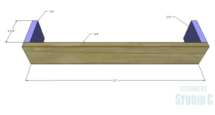 DIY Plans to Build a Square Ledge Shelf_Frame