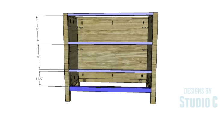 DIY Plans to Build an Atherton Cabinet_Front Stretchers