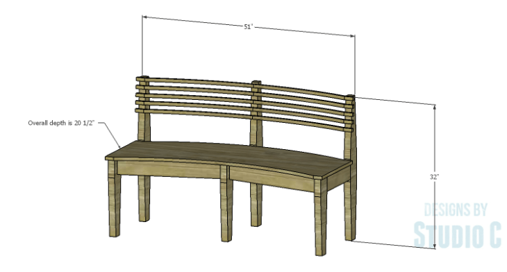 DIY Plans to Build a Curved Seat Bench