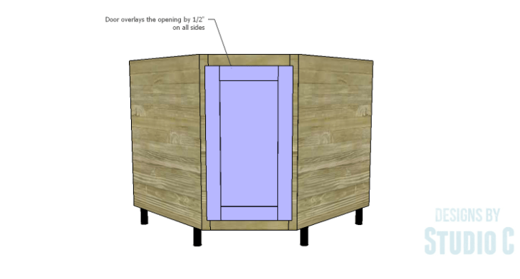 DIY Plans to Build a Diagonal Corner Base Kitchen Cabinet_Door 2