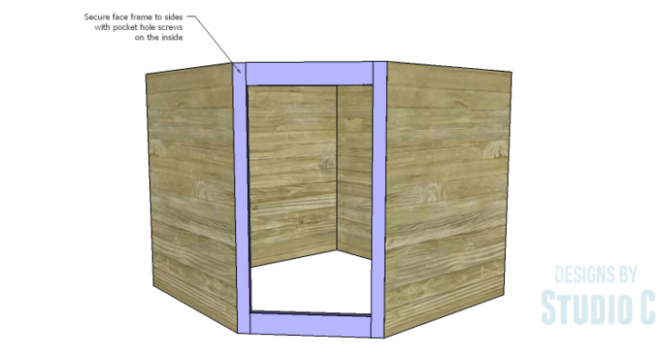 DIY Plans to Build a Diagonal Corner Base Kitchen Cabinet_Face Frame 2