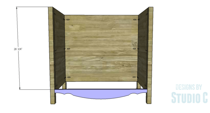 DIY Plans to Build a Furniture Style Bath Vanity_Curved Front Stretcher 2