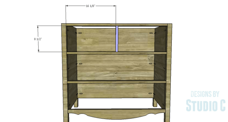 DIY Plans to Build a Furniture Style Bath Vanity_Drawer Divider