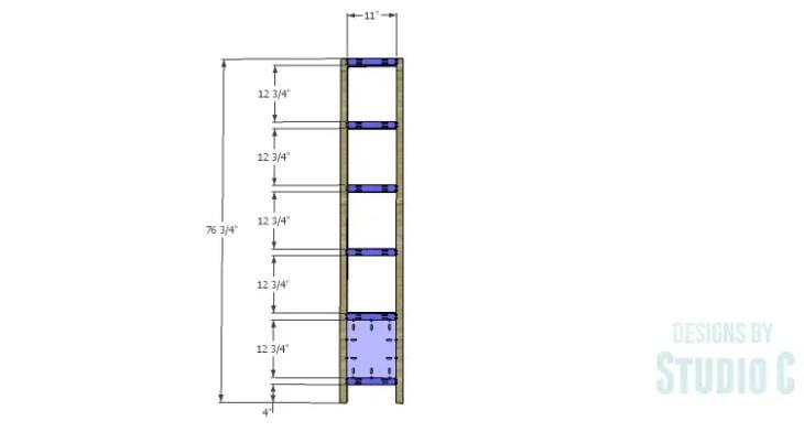 DIY Plans to Build a Milo Shelving Unit_Sides
