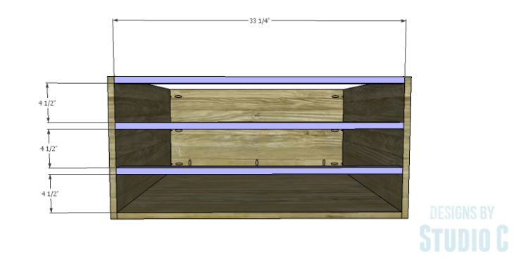 DIY Plans to Build a Monette Coffee Table_Front Stretchers