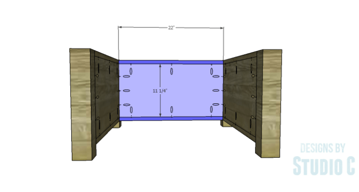 DIY Plans to Build Single Washer and Dryer Pedestals_Back