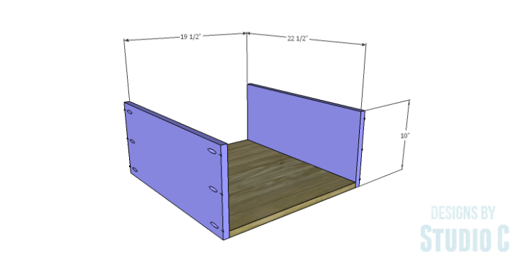 DIY Plans to Build Single Washer and Dryer Pedestals_Drawer BS