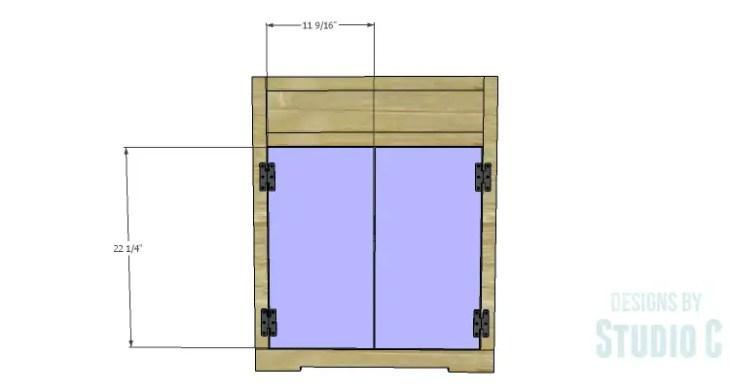 DIY Plans to Build a Trunk Style Bath Vanity_Doors