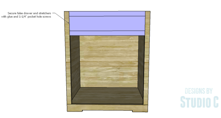 DIY Plans to Build a Trunk Style Bath Vanity_False Drawer 2