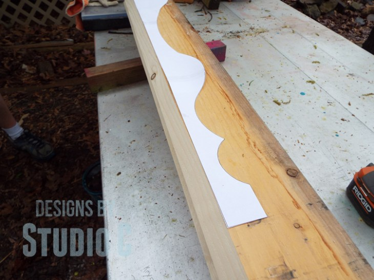 How to Cut Wood Legs with a Template_Template