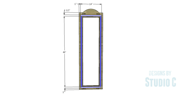 DIY Plans to Build a Dorm Mirror Frame_Back Frame