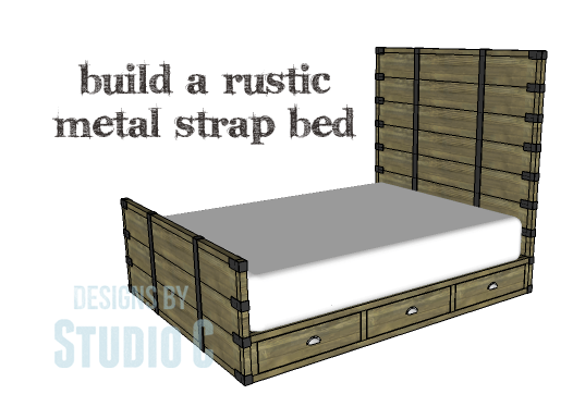 rustic bed plans. Plain Plans DIY Plans To Build A Rustic Metal Strap Queen Bed_Copy To Bed R