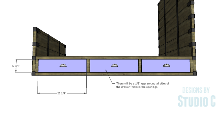 DIY Plans to Build a Rustic Metal Strap Queen Bed_Drawer Fronts