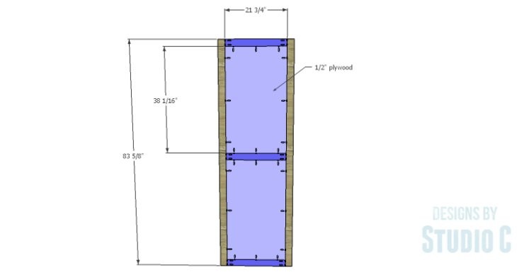 DIY Plans to Build a Sliding Door Pantry_Door 1