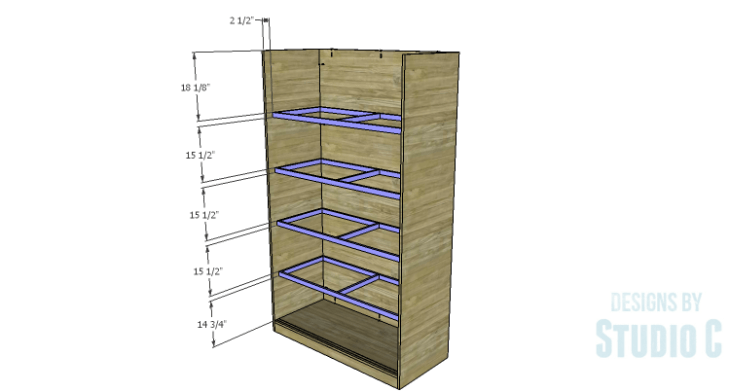 DIY Plans to Build a Sliding Door Pantry_Shelf Frames 2