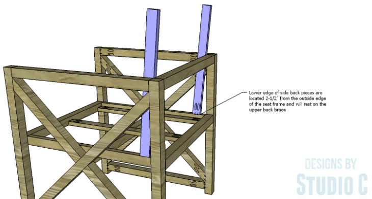 DIY Plans to Build an X Leg Chair_Back Side 2