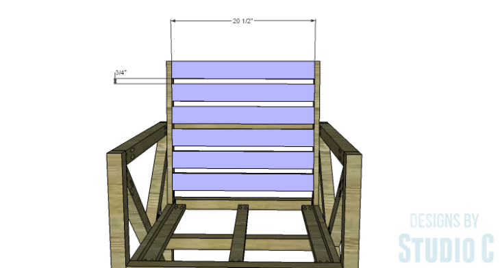 DIY Plans to Build an X Leg Chair_Back Slats