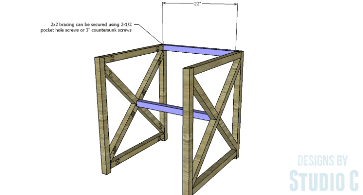 DIY Plans to Build an X Leg Chair_Bracing