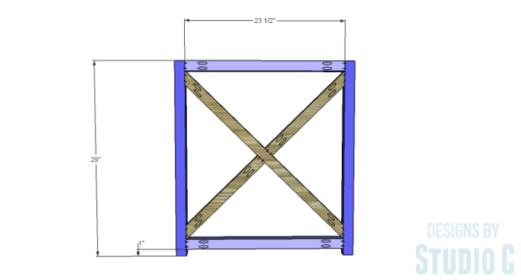 DIY Plans to Build an X Leg Chair_Side Framing