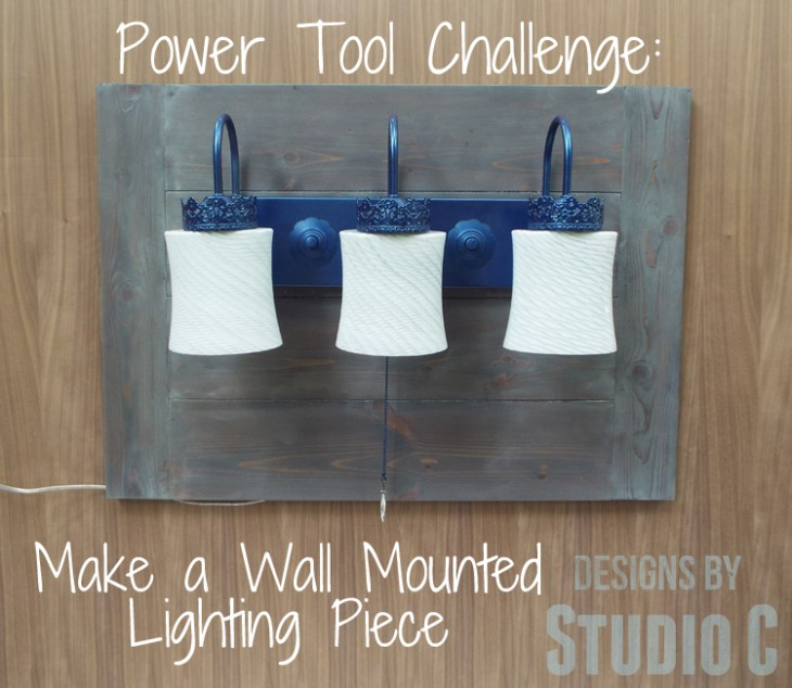 How to Make a Wall Mounted Lighting Piece
